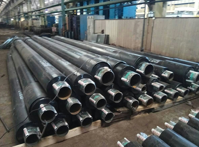 Prefabricated direct buried insulation pipe
