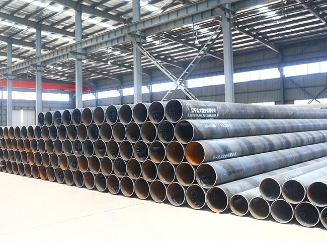 Spiral steel pipe with double-sided submerged arc welding